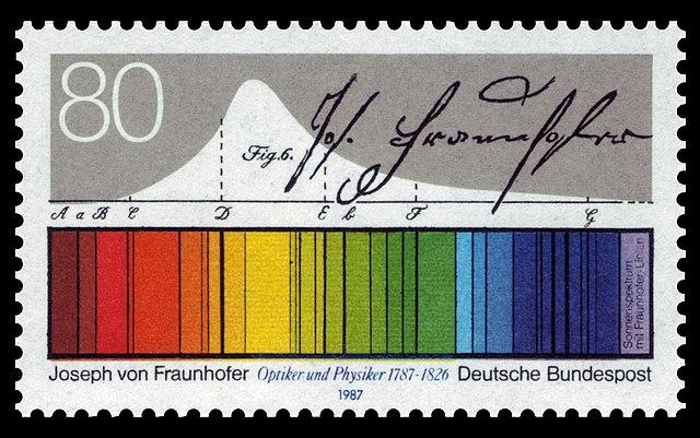 640px-DBP_1987_1313_Joseph_von_Fraunhofer,_Sonnenspektrum